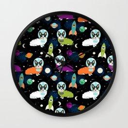 Corgi astronaut tri colored corgi space cadet outer space dog breed corgis Wall Clock