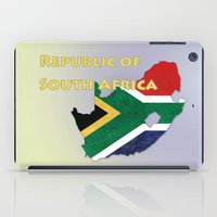 south africa iPad Cases featuring Republic of South Africa by Dandy Octopus