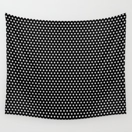 White Plus sign Wall Tapestry
