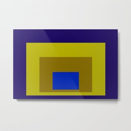 Blue and Yellow Squares Metal Print