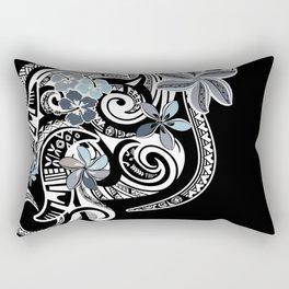 Hawaiian Platinum Floral Tribal Threads Rectangular Pillow