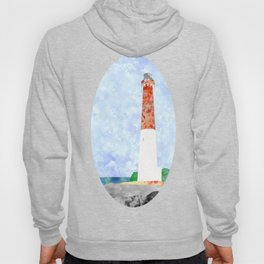 Watercolor Collage Lighthouse Hoody
