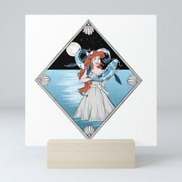 Little Mermaid & Volans Mini Art Print