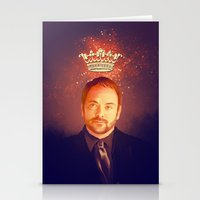 crowley Stationery Cards featuring Crowley - Supernatural by KanaHyde