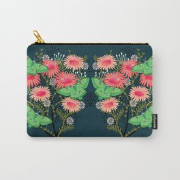 Luna Moth Florals by Andrea Lauren  Carry-All Pouch