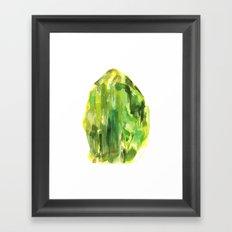 Raw Peridot  Framed Art Print