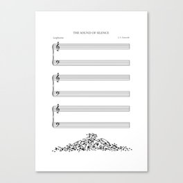 The Sound of Silence (Mono) Canvas Print