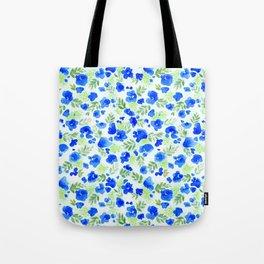 Floret (Blue) Tote Bag