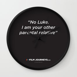 Film Journeys Misquotes: No Luke. I Am Your Other Parental Relative Wall Clock