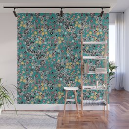cloisonne flowers Wall Mural