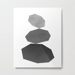 Modern minimalist geometric black and white art Metal Print