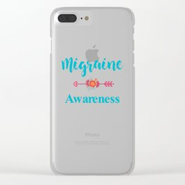 Migraine Headache Pain Awareness Clear iPhone Case