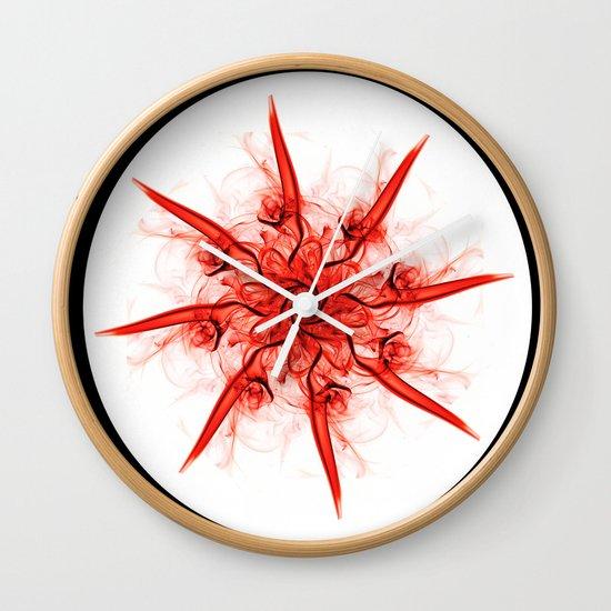Smoke Flower 1 Wall Clock