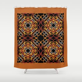 Gender Equality Tiled - Earth Tones Shower Curtain