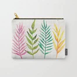 Colorful Botanical Leaves Carry-All Pouch