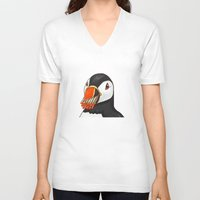 puffin V-neck T-shirts featuring Puffin' Puffin by t-shirt lifter