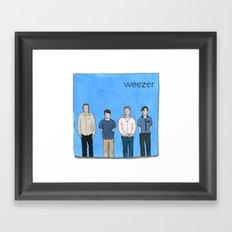Weezer Framed Art Print