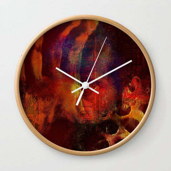 beyond the lines   (This Artwork is a collaboration with the talented artist Agostino Lo coco) Wall Clock