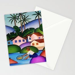 Classical Masterpiece 'An Angler' by Tarsila do Amaral Stationery Cards