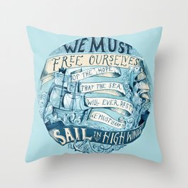 Learn to Sail Throw Pillow
