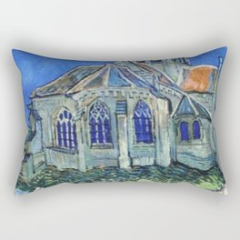 The Church at Auvers Vincent Van Gogh Rectangular Pillow