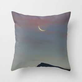 Moon Sunrise And Veleta Mountain. 3,482 meters. Throw Pillow