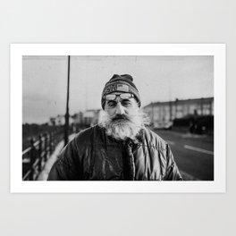 Fisherman's portrait Art Print