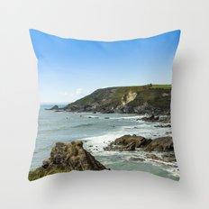 Cornishseascapes Gunwalloe 02 Throw Pillow
