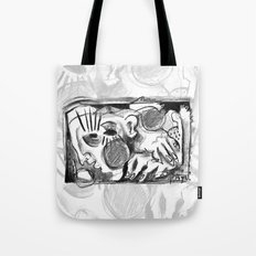 The Shaping of a Man - b&w Tote Bag