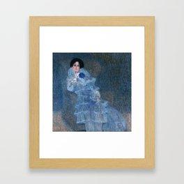 Portrait of Marie Henneberg Framed Art Print