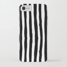 Black and White Vertical Stripes Slim Case iPhone 7