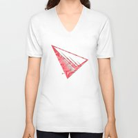 pyramid V-neck T-shirts featuring Pyramid by Flester