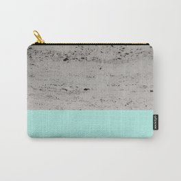 Bright Mint on Concrete #1 #decor #art #society6 Carry-All Pouch