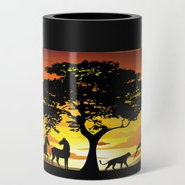 Wild Animals on African Savanna Sunset Can Cooler