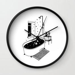 Stat Bath Wall Clock