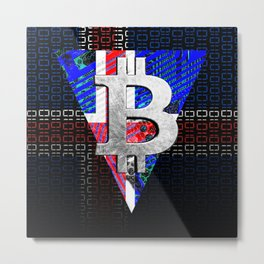 bitcoin Iceland Metal Print