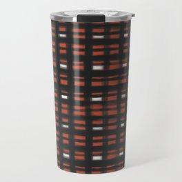 geo brush plaid Travel Mug