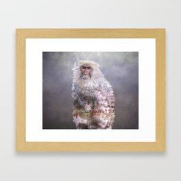 Snow monkey dreams Framed Art Print