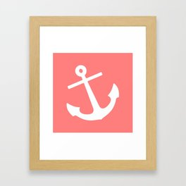 Coral Anchor Framed Art Print
