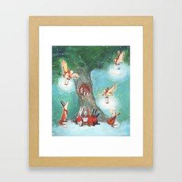 Forest Carol Framed Art Print