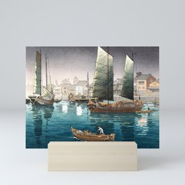 Tsuchiya Koitsu - Akashi Bay, Inland Sea at Seto - Japanese Vintage Woodblock Painting Mini Art Print