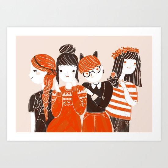 Four of us Art Print