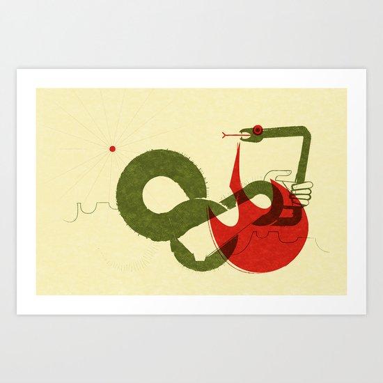 Viper Bite (by Scotty Reifsnyder) Art Print