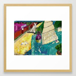 Tourism of the future Framed Art Print