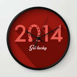 2014 Time to Get Lucky Wall Clock
