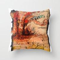 fairy tale Throw Pillows featuring fairy tale by Elvira Marinevich