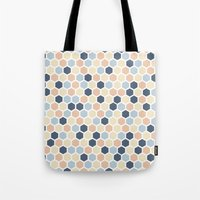 honeycomb Tote Bags featuring Honeycomb by 603 Creative Studio