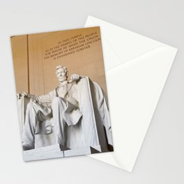 Lincoln memorial   Washington, D.C. Stationery Cards