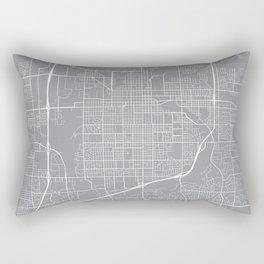 Sioux Falls Map, South Dakota USA - Pewter Rectangular Pillow