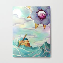 Bandana Waddle Dee and Kracko Metal Print